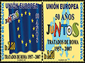 Special postage stamp marks EU's 50th birthday