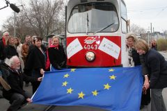 Maiden voyage of the Europe Tram