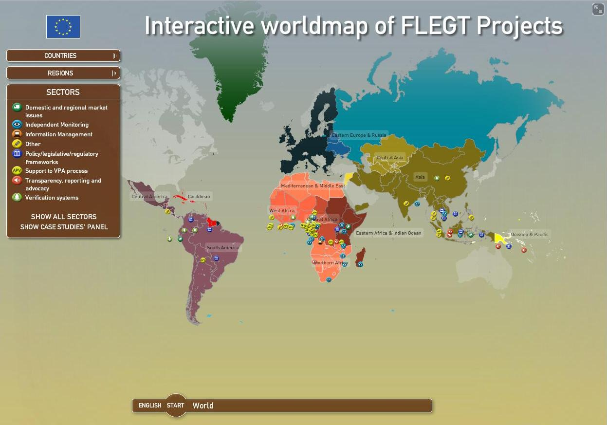 FLEGT Interactive Map