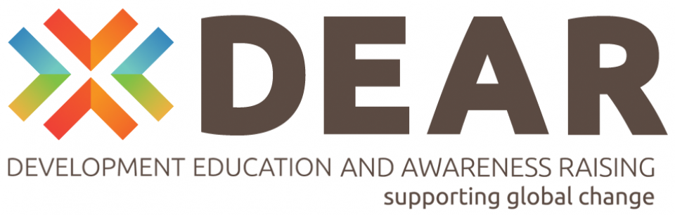Banner for the DEAR programme, Development Education and Awareness Raising