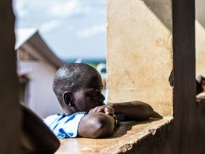 Primary pupil in Uganda
