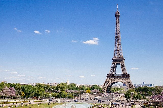 Landscape with Tour Eiffel from France