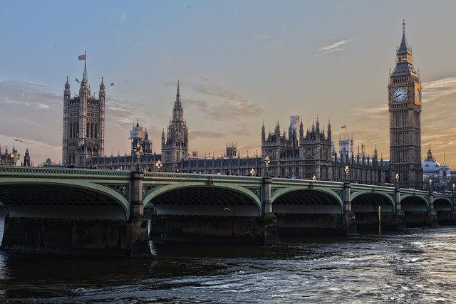 Pictures from London with a bridge