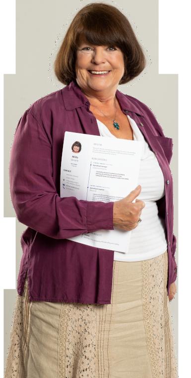 Woman holding her Europass CV