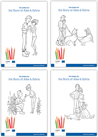 print and colour with sylvia alex coco and alfred eu pavilion at expo milano 2015 - Pictures To Print And Colour