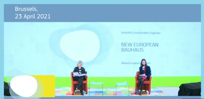 video NEB prizes screenshot with two Commissioners presenting