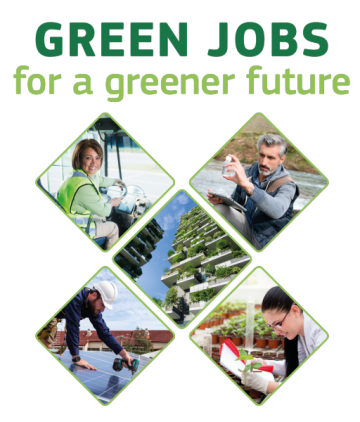 Illustration of different green jobs © EU