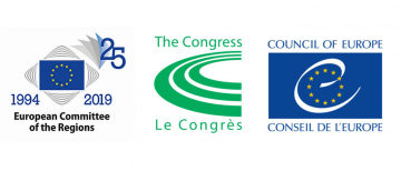 Logos of the 25th anniversary, the CoR and the Congress © EU