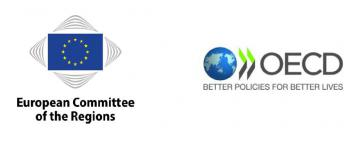 Logos of the CoR and the OECD © EU