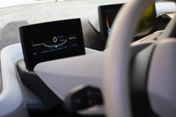 Close-up on a car's driving wheel and dashboard © EU
