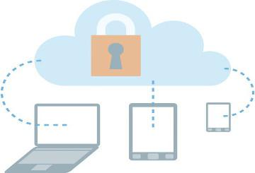 Symbolic representation of cloud data protection © EU