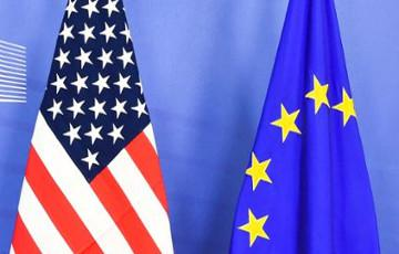 European and American flags © EU