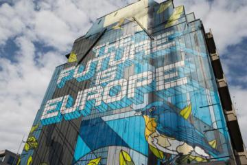 'Future of Europe' mural in Brussels © EU