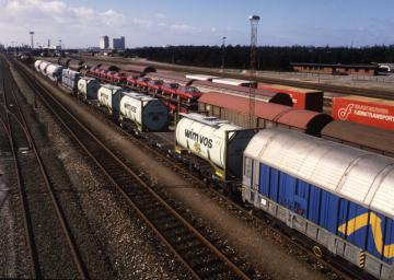 Goods transported by rail © EU