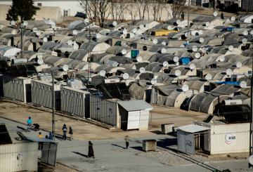 A refugee camp © EU