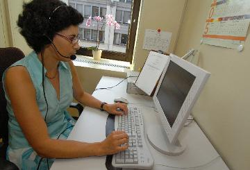 A translator at work © EU