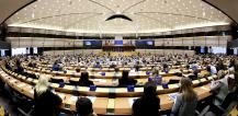 A general view of the plenary chamber in Brussels at the opening of March plenary session. © EU