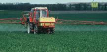 Pesticides being sprayed on field © EU