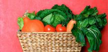 Organic vegetables in basket © EU