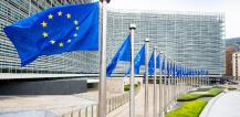 European flags in front of the Berlaymont building © EU