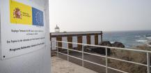 The FRONTEX monitoring site with the sign of the joint EU and Spanish Ministry of the Interior financing © EU