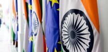 European and Indian flags © EU
