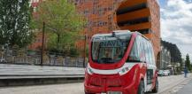 Driverless electric Autonom Shuttle in Lyon, France © EU