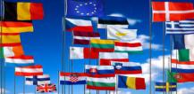 Flags of the 28 EU member countries © EU