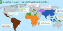 Map showing investment facilities © EU