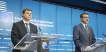 Mr Valdis Dombrovskis, Vice President of the European Commission and Mr Janis Reirs, Latvian Minister for Finance © EU