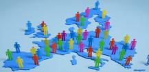 Representation of people on map of EU © EU