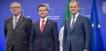 Mr Jean-Claude Juncker, Mr Enrique Peña Nieto and Mr Donald Tusk © EU