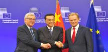 From left to right: Mr Jean-Claude Juncker, Mr Li Keqiang and Mr Donald Tusk © EU