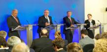From left to right: Mr Dimitrios AVRAMOPOULOS, Mr Frans TIMMERMANS, and Mr Jean ASSELBORN © EU