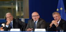 From left to right: Mr Dimitrios AVRAMOPOULOS, Mr Frans TIMMERMANS and Mr Jean ASSELBORN © EU