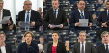 Jean-Claude Juncker and EP political group leaders © EU
