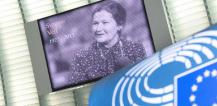 Image of Simone Veil displayed in European Parliament © EU