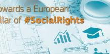 "Banner reading ""Towards a European Pillar of #SocialRights © EU"