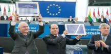 Antonio Tajani and Venezuelan opposition leaders © EU