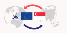 Map with flag of EU and Singapore © EU