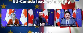 EU-Canada leaders' meeting via video conference