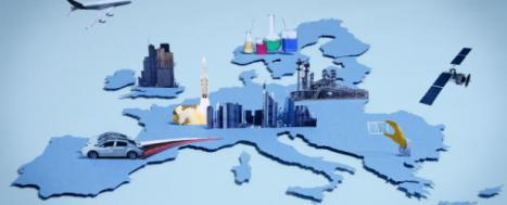 Map of EU with illustration of cross-border business © EU