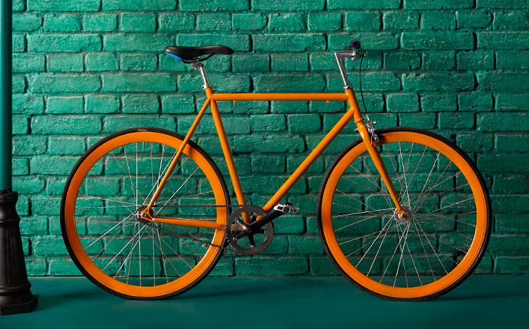 image of orange bike