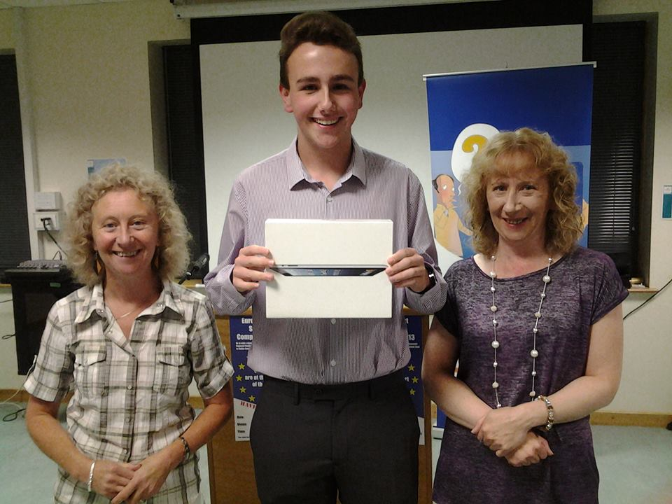 Daire Lawler with his mum and aunt