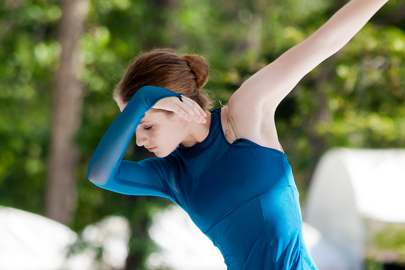 Dancer with a blue costume