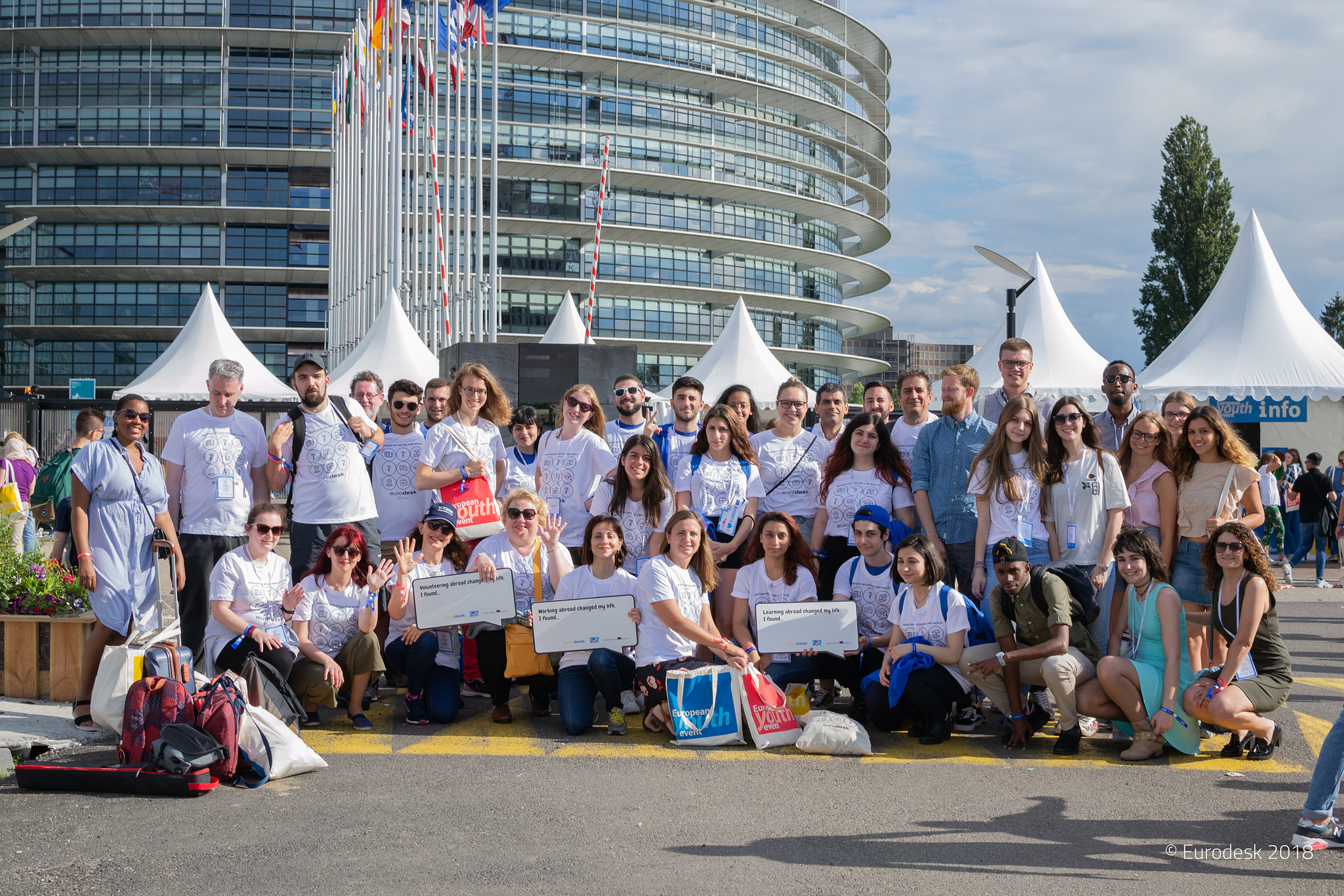 Group of youngsters at european youth event