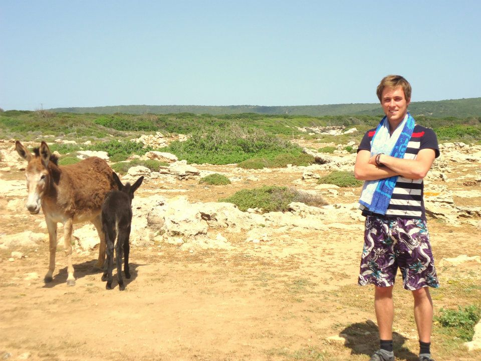 Well, when I met this donkey in Cyprus, I really felt we are the same.
