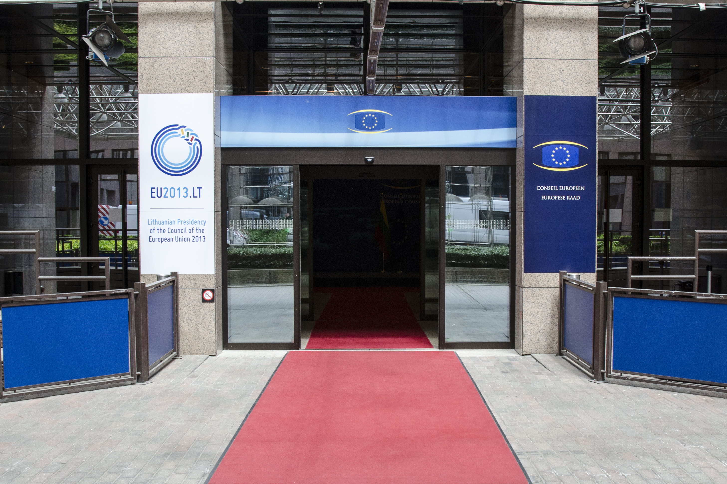 Entrance to the EU Council in Brussels