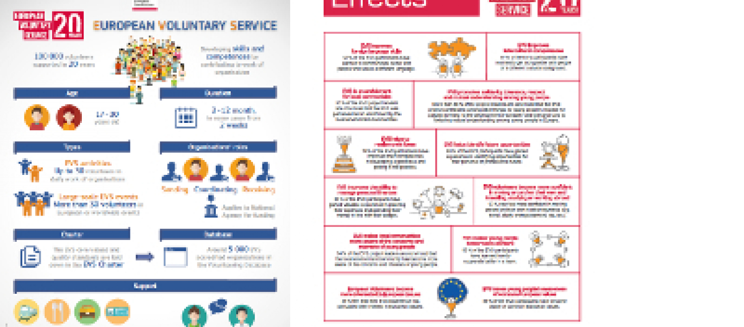 Thumbnail of factsheet about EVS statistics and impacts