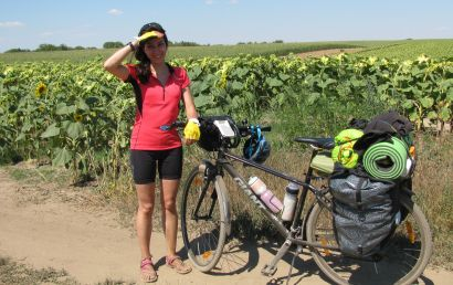 Ece in bicycle tour
